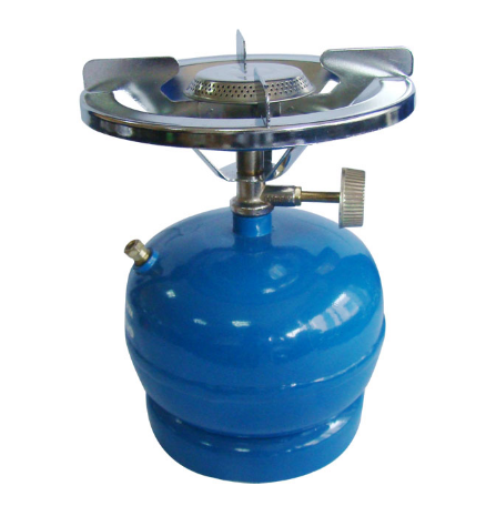 small gas cylinder with stove