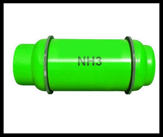 green ammonia gas cylinder