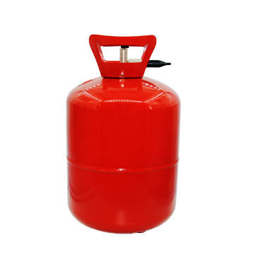 small industrial helium cylinder