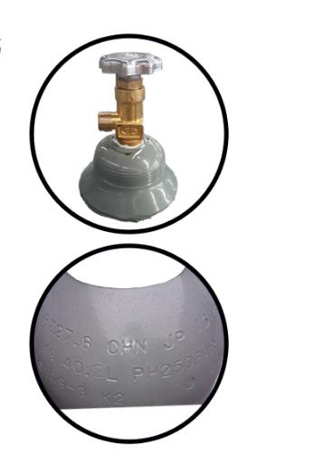 size Argon cylinder